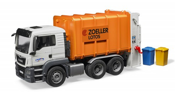 03762 - Bruder Toys MAN TGS Rear Loading Garbage Truck