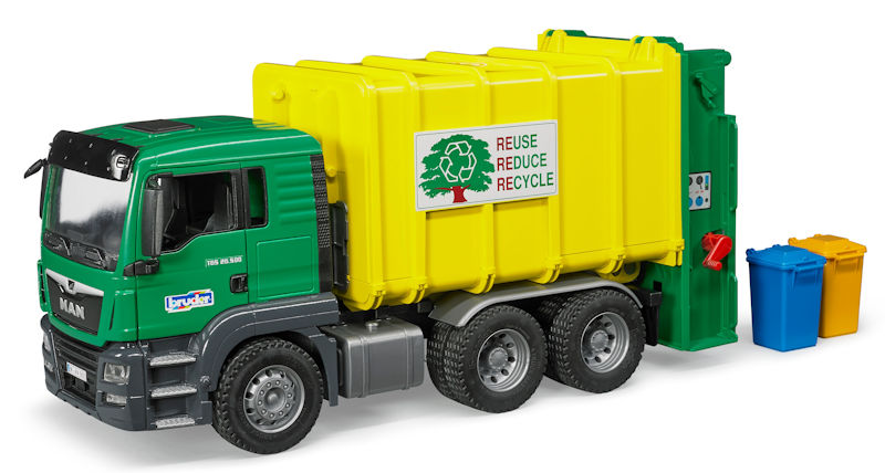 03764 - Bruder Toys MAN TGS Rear Loading Garbage Truck