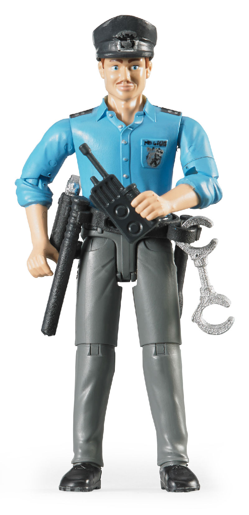 60050 - Bruder Toys Policeman with Light Colored Skin and Accessories