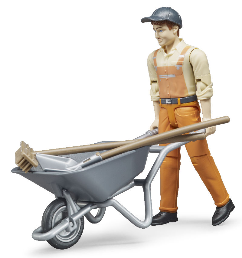 62130 - Bruder Toys Municipal Maintenance Worker Figure