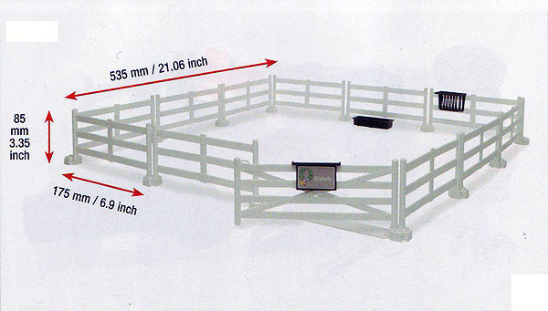 62504 - Bruder Toys White Pasture Fence As well as large