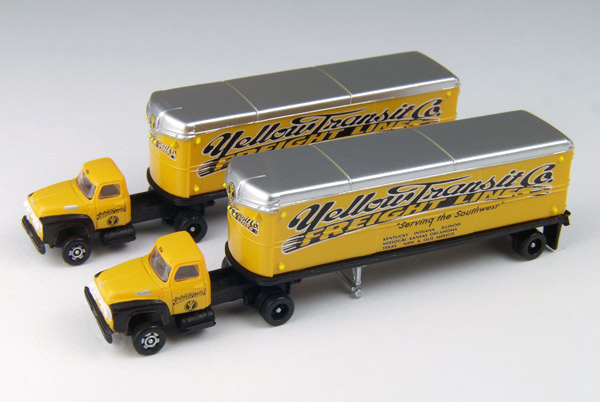 51164 - CMW Yellow Freight 1954 Ford Tractor 2 Piece