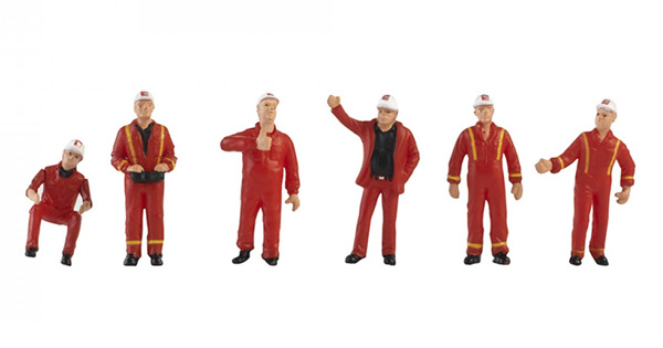 410223 - Conrad Mammoet 6 Piece Construction Figure Set