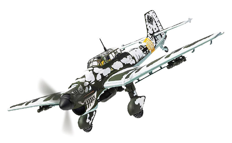 "Junkers Ju-87B-2 Stuka ""Ghost Bones"", T6+GL ""Bones nose art"", 3./StG.2 ""Immelmann"", Battle of Moscow, December 1941 (1:72)"