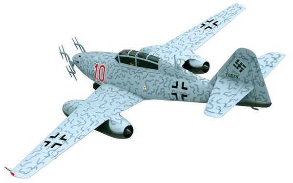 AA35709 - Corgi Messerschmitt Me262B 1A Red 10
