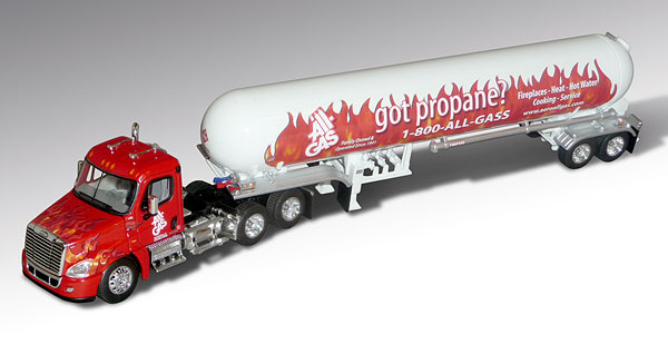 32735 - Die-Cast Promotions DCP All Gas Freightliner Cascadia Day Cab