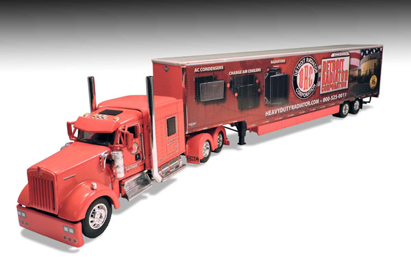 33543 - Die-Cast Promotions DCP Detroit Radiator Dr Cool Show Truck Kenworth