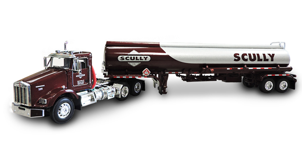 33841 - Die-Cast Promotions DCP Scully Oil Kenworth T800 Day Cab