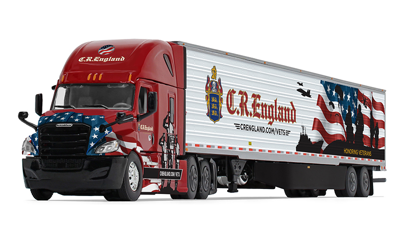 60-0541 - Die-Cast Promotions DCP CR Englands Honored Veteran Program Truck Freightliner