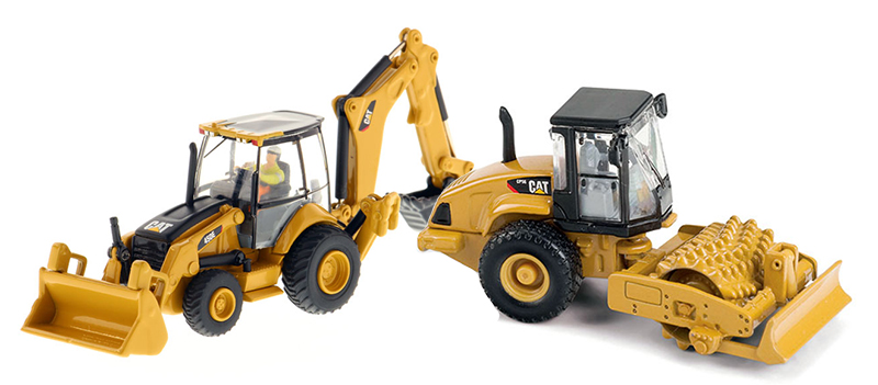 85263-COMBO - Diecast Masters Caterpillar 450E Backhoe Loader 85263_CAT CP56 Padfoot
