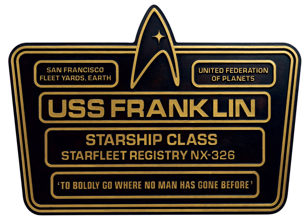 SSSUK908 - Eaglemoss STPLAQUE8 USS Franklin Dedication Plaque Star