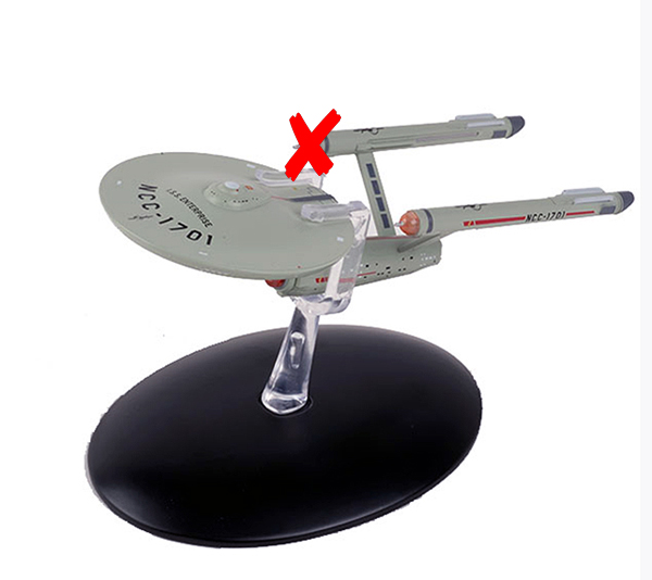 ST50A-X - Eaglemoss ISS Enterprise NCC 1701 Star Trek Mirror