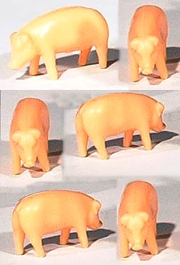12820 - ERTL Toys Pigs_Hogs Pink Bag of 25 These are