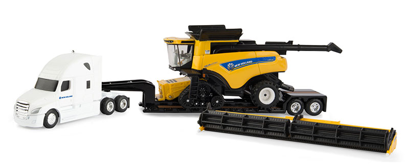 13949 - ERTL Toys New Holland CR990 Combo Hauling Set