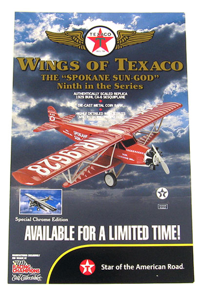 20211P-POS - ERTL Toys Texaco Small Double Sided Hanging Poster