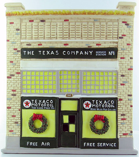 29230PR - ERTL Toys Texaco Porcelain Filling Station 1 2002 JUST