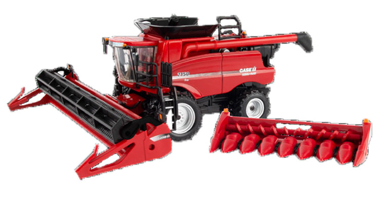 44243 - ERTL Toys Case IH 7150 Combine Prestige Collection