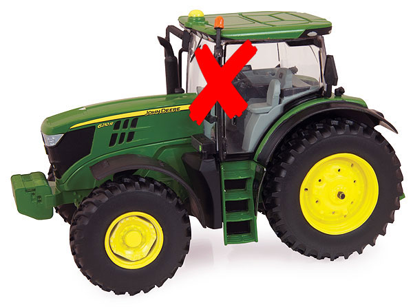45351-X - ERTL Toys John Deere 6210R Tractor Prestige Collection MIRRORS