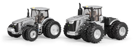 45647A - ERTL Toys John Deere 9570R and 8400R Tractors Silver