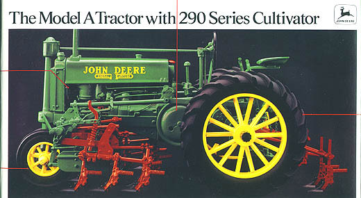5633 - ERTL Toys John Deere Model A Tractor on rubber