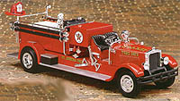F415 - ERTL Toys Texaco 15 1998 1929 Mack Fire Engine
