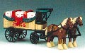 H311 - ERTL Toys Coca cola Christmas 1997 Horses and Wagon