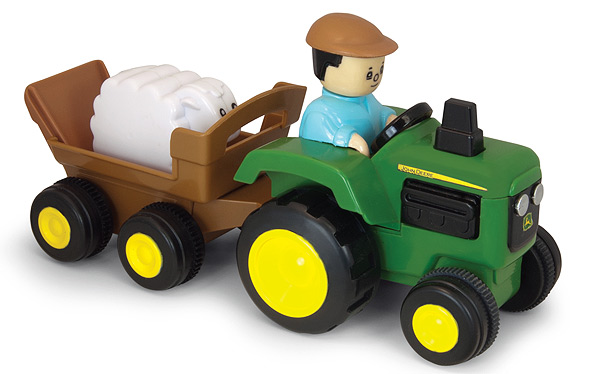 T16011 - ERTL Toys John Deere Pull and Go Tractor Take