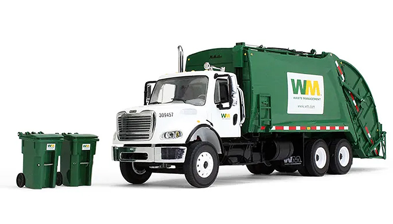 10-3287T - First Gear Replicas Waste Management Freightliner M 2 Rear Load