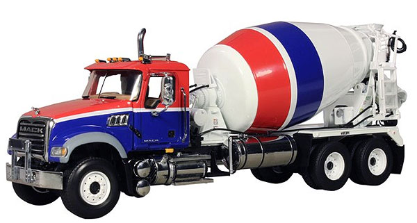 10-3995 - First Gear Replicas Mack Granite Standard Mixer Truck