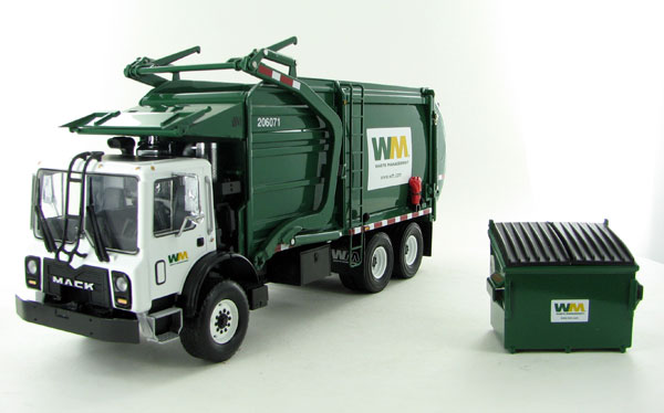 10-4001 - First Gear Replicas Waste Management Mack TerraPro Front Load Refuse