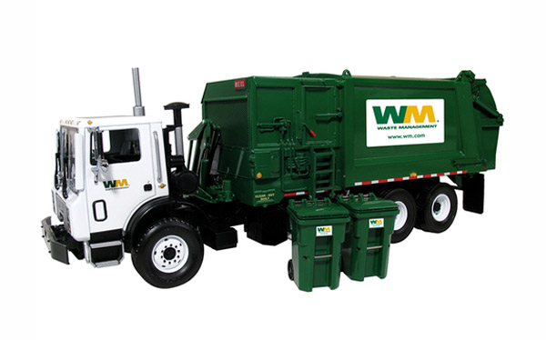 10-4004A - First Gear Replicas Waste Management Mack TerraPro Refuse Truck