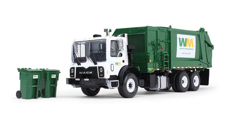 10-4004B - First Gear Replicas Waste Management Mack TerraPro Refuse Truck