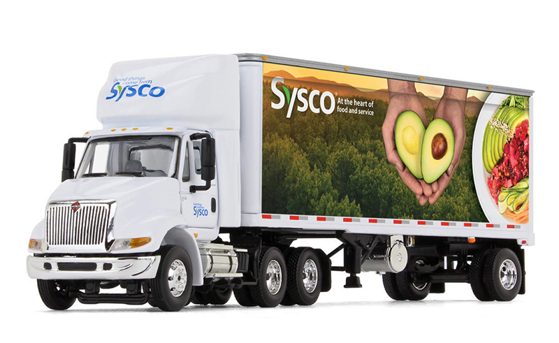 304448 - First Gear Replicas Sysco International 8600 Day Cab and Refrigerated