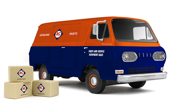 40-0385 - First Gear Replicas Allis Chalmers 1960s Ford Econoline Van Made