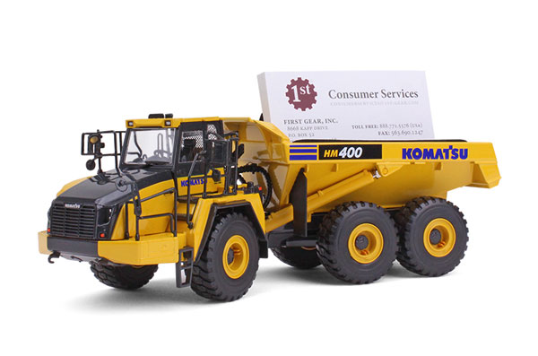 50-3347A - First Gear Replicas Komatsu HM400 5 Articulated Dump Truck Business