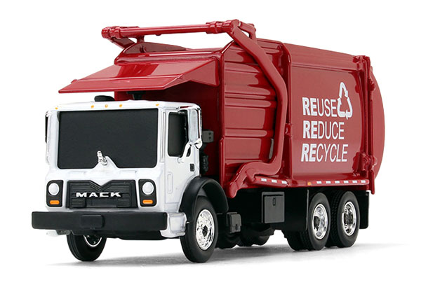 80-0329 - First Gear Replicas Mack TerraPro Front End Loader Garbage Truck