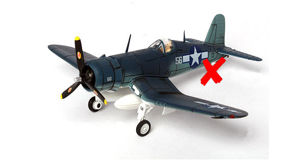85076-X - Forces Of Valor WWII US F4U 1D constructed