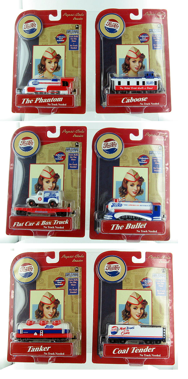 00273-SET - Gearbox Pepsi Cola Train 6 piece set