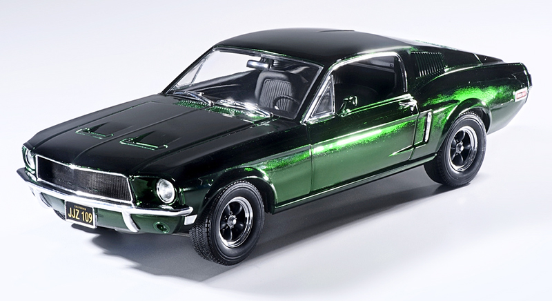 12823 - Greenlight Diecast 1968 Ford Mustang GT Fastback Green Chrome