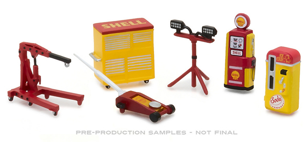 13158 - Greenlight Diecast Shell Oil GL Muscle Shop Tools Set