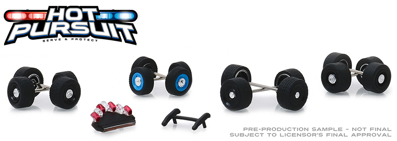 13171 - Greenlight Diecast Hot Pursuit Wheel Tire Pack 16