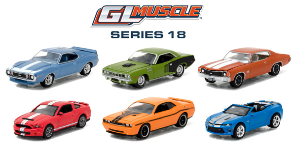 13180-CASE - Greenlight GL Muscle Series 18 Six Piece