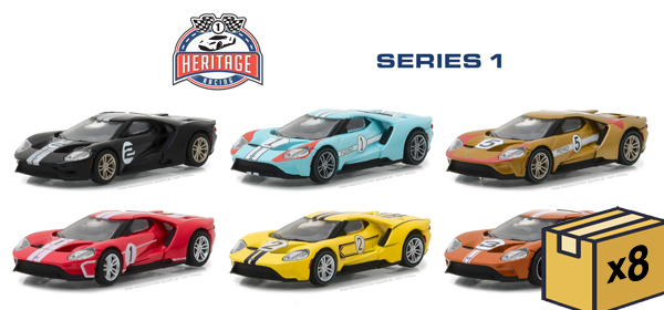 13200-MASTER - Greenlight Diecast Ford GT Racing Heritage Series 1 48