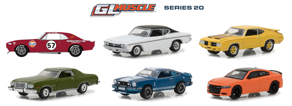 13210-CASE - Greenlight Diecast GL Muscle Series 20 6 Piece Case