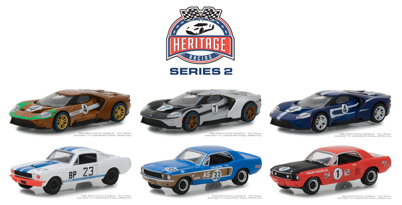 13220-CASE - Greenlight Diecast Ford GT Racing Heritage Series 2 6
