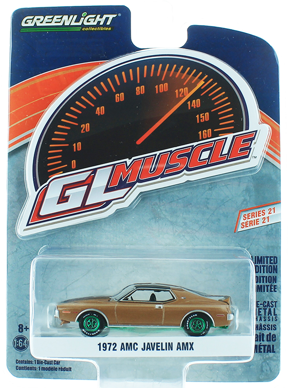 13230-B-SP - Greenlight Diecast 1972 AMC Javelin AMX Baja Bronze SPECIAL