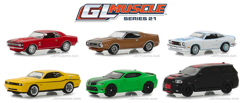 13230-CASE - Greenlight Diecast GL Muscle Series 21 6 Piece Case