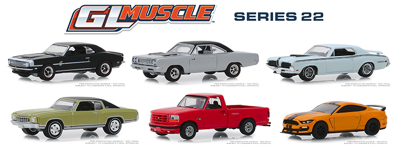 13250-CASE - Greenlight Diecast GL Muscle Series 22 6 Piece Case
