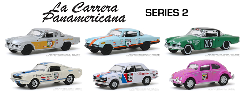 13260-CASE - Greenlight Diecast La Carrera Panamericana Series 2 6 Piece