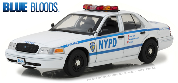 13513 - Greenlight Diecast NYPD Jamie Reagans 2001 Ford Crown Victoria